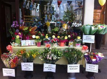 Outside flower bouquets, Morecambe florist, Abi's Arrangements