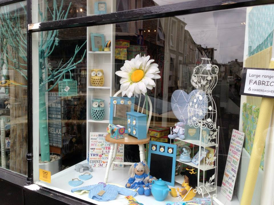 Queen Street window display, spring, morecambe